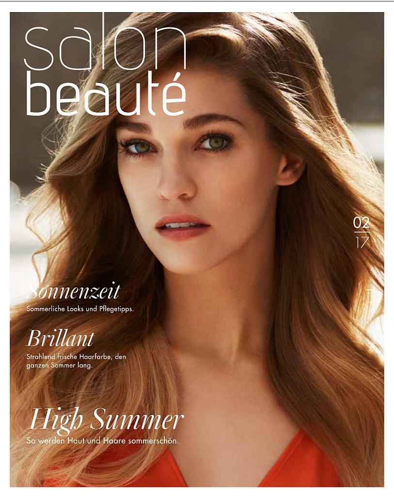 Titelseite des Magazins Salon Beauté Ausgabe 02 2017