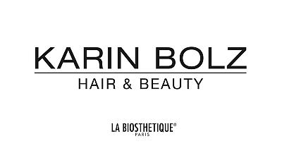 Schriftzug Karin Bolz - Hair & Beauty - La Biosthetique - Paris