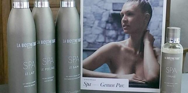 SPA-Produkte mit dem Kampagnenfoto