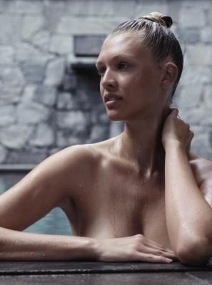 Foto einer Frau im Wellnessbad